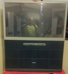 Projection TV Toshiba - approx. 47 inches, maybe 50 available
