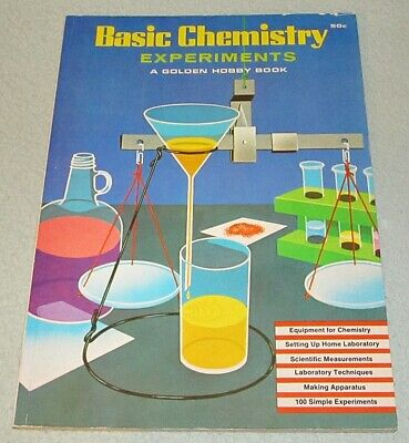 BASIC CHEMISTRY EXPERIMENTS A Golden Book Hobby Book 1965 Edition FINE