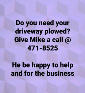 DO YOU NEED YOUR DRIVEWAY PLOWED