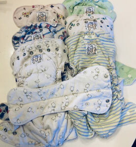 Cotton Diaper one size with liner  LOT of SIX