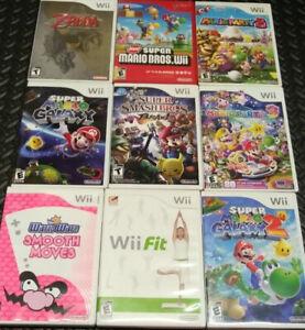 Lot de jeux de Nintendo Wii des plus recherchés