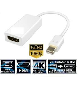 Mini DisplayPort to HDMI Adapter for Apple MacBook Pro, Air, Mac