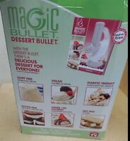 MAGIC BULLET DESSERT BULLET ICE CREAM FROZEN YOGURT MAKER - NEW