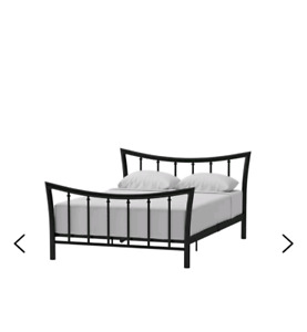 Moveout  metal QUeen bed frame sale- barely used...