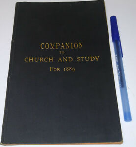 1889 Antique Old Book Church Study Companion