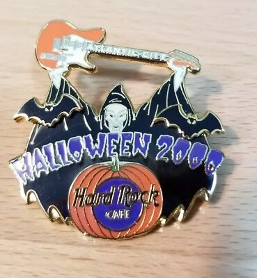 Hard Rock Cafe Pin Atlantic City Halloween 2000 Pin Witch Bats Pumpkin](Rock City Halloween)