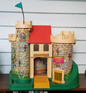 Vintage Fisher Price Play Family Castle