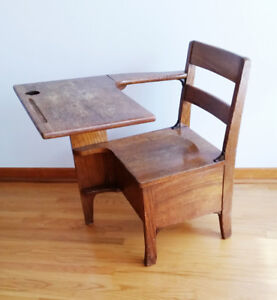 Adorable Vintage Antique Wooden School Desk
