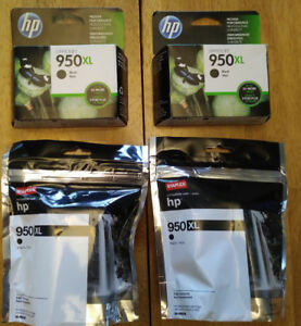 4 - HP 950 XL Black Ink  Brand New Never Opened EACH