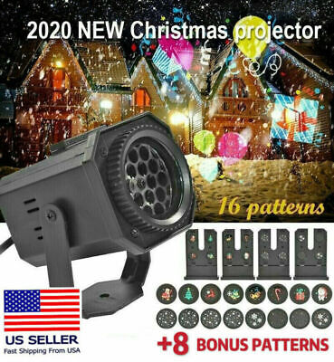 Christmas and Halloween Holiday LED Laser Light Projector House Landscape Decor