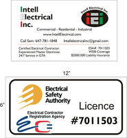 ESA certified and Insured Master electrician.CALL NOW