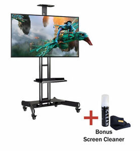 """Mobile TV Cart Stand for 32"""" to 65"""" TVs"""
