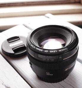 Canon EF 50mm f/1.4 AF USM Lens