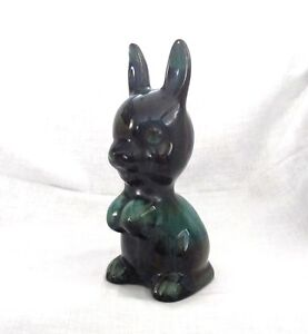 Medium Blue Mountain Pottery Rabbit
