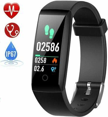 HETP Fitness Tracker Cardiofrequenzimetro, Orologio Impermeabile Nero
