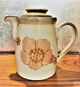 "COFFEE POT with LID DENBY ""GYPSY"" HAND PAINTED, ENGLAND"