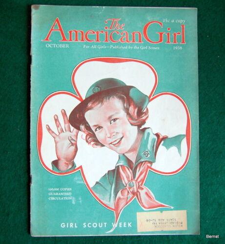 VINTAGE  GIRL SCOUT - 1938 AMERICAN GIRL - OCTOBER
