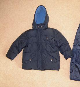 Boys Winter Jacket, Snow Pants, Clothes - sz 3, Boots sz 10