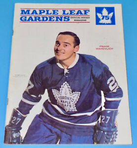 TORONTO MAPLE LEAFS VS CHICAGO BLACKHAWKS 1967-68 NHL PROGRAM