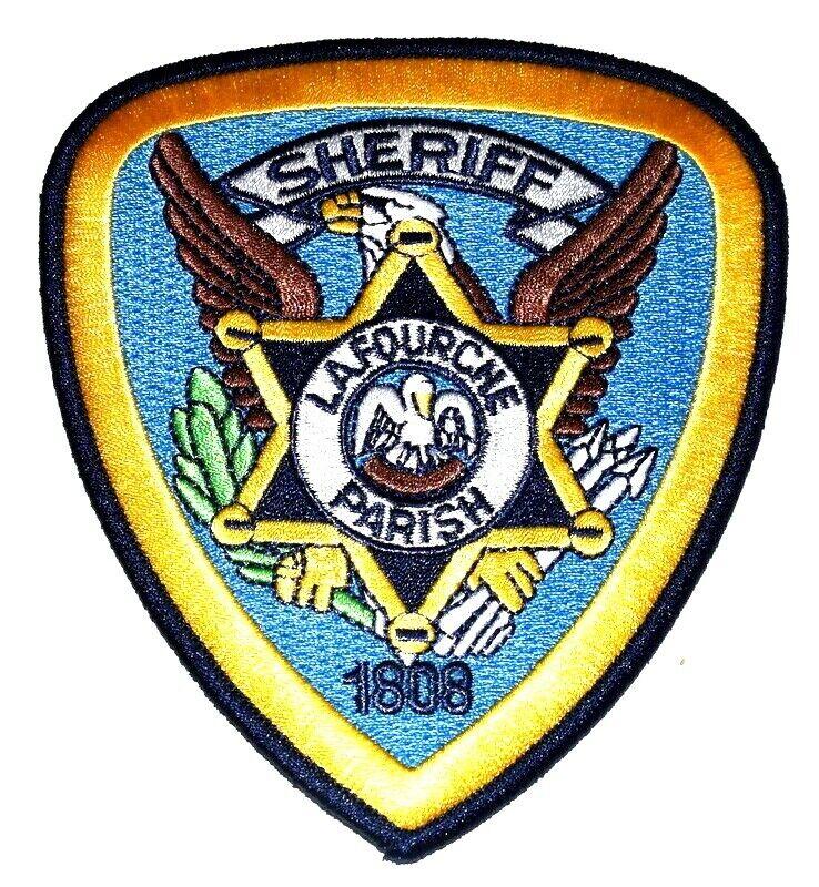 LA FOURCHE PARISH LOUISIANA LA Sheriff Police Patch STATE SEAL PELICAN ~