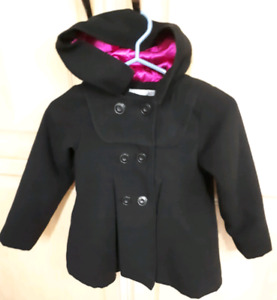 Girl size 6x London Fog black fall/spring heavy coat-$25