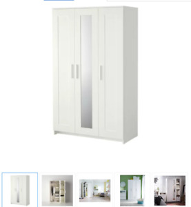 IKEA BRIMNES-Wardrobe with 3 doors, white. only use for 3 month