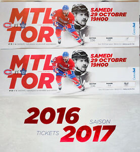 Leafs VS Habs, Canadiens, Sat. Oct 29, Centre Zone Whites 336