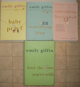 4 Novels by Emily Giffin (1 hardcover)
