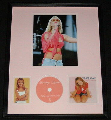 Britney Spears 1999 Baby One More Time Framed 16x20 CD & Photo Display