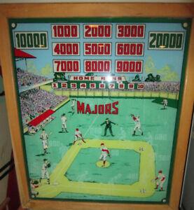 Vintage Majors pre-flippered Pinball Machine (Needs Work)