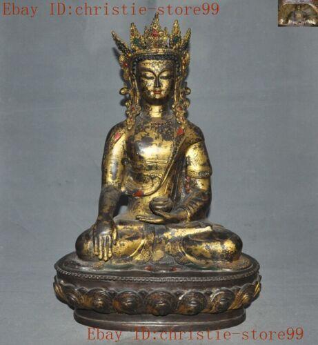 Tibetan Buddhism temple bronze Gilt Tara Kwan-Yin GuanYin goddess Buddha statue