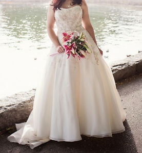 Size 12 Ball Gown Style Wedding Dress (Ivory/Silver) - $1000 OBO
