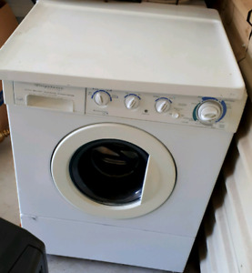 Frigidaire white stackable washer and dryer