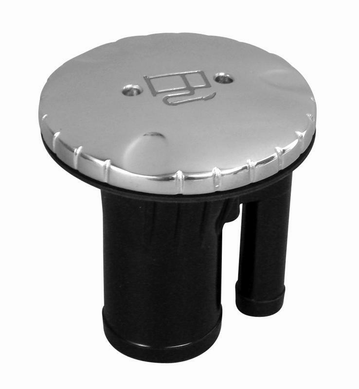 Attwood Round Vented Deck Fill, Straight, Chrome, Gasoline 99200GZ1