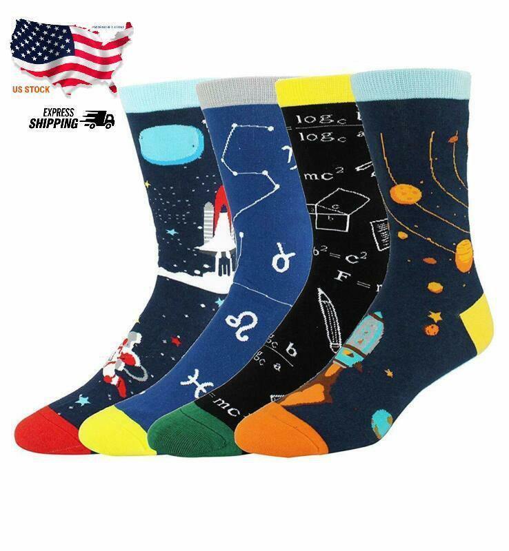 Happypop Novelty Funny Crazy Crew Socks for Men Colorful Fun