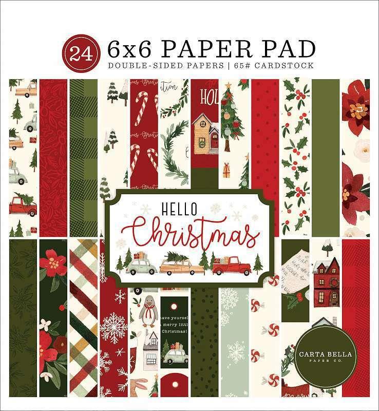 "Carta Bella Double-Sided Paper Pad 6""X6"" 24/Pkg Hello Christmas,  787790205913"