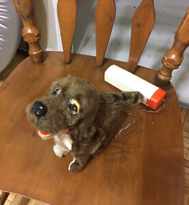 Vintage battery operated dog that walks & barks