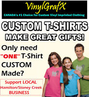 """CUSTOM"" KIDS Shirts *Local Hamilton/Stoney Creek T-Shirt Shop*"