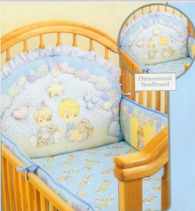 Precious moments crib bedding set with angel dolls