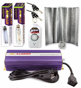 Apollo Horticulture 600W HPS MH Grow Light Kit