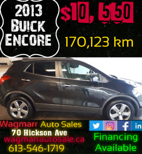 2013 Buick Encore. Was $ 10550.Now $9550 plus taxes.