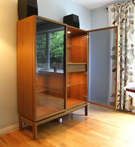 Contemporary Bookcase with Glass Doors