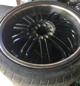 5x114 20inch tires with rims and caps