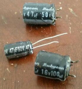 a few Capacitor's 50v 100uF, 50v 47uF,  50v 22uF 105°C London Ontario image 1