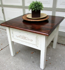 HANDCRAFTED SOLID WOOD SHABBY CHIC COFFEE TABLE - 1 OF A KIND