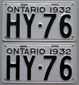 Vintage YOM License Plates For Your Classic - MTO Guaranteed! Cornwall Ontario image 1