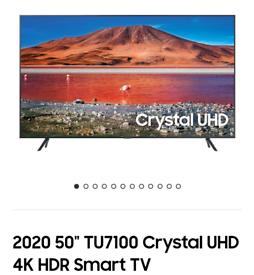 Samsung 50TU7100 4k smart brand new boxed call 07550365232