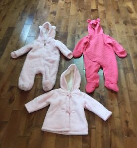 Baby Girl Jacket, Snowsuits and Clothes (6-12 months)