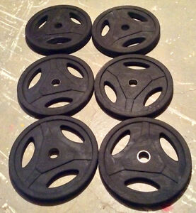 """NORTHERN LIGHTS Olympic weights 2"""" BUMPER PLATES Total 210 LBS"""