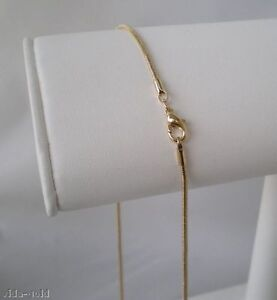 14K-Yellow-Gold-plated-2MM-Snake-Chain-Lifetime-guarantee-18-20-24-Inch